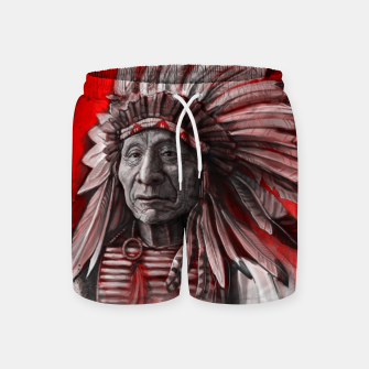 Thumbnail image of Red Cloud Swim Shorts, Live Heroes