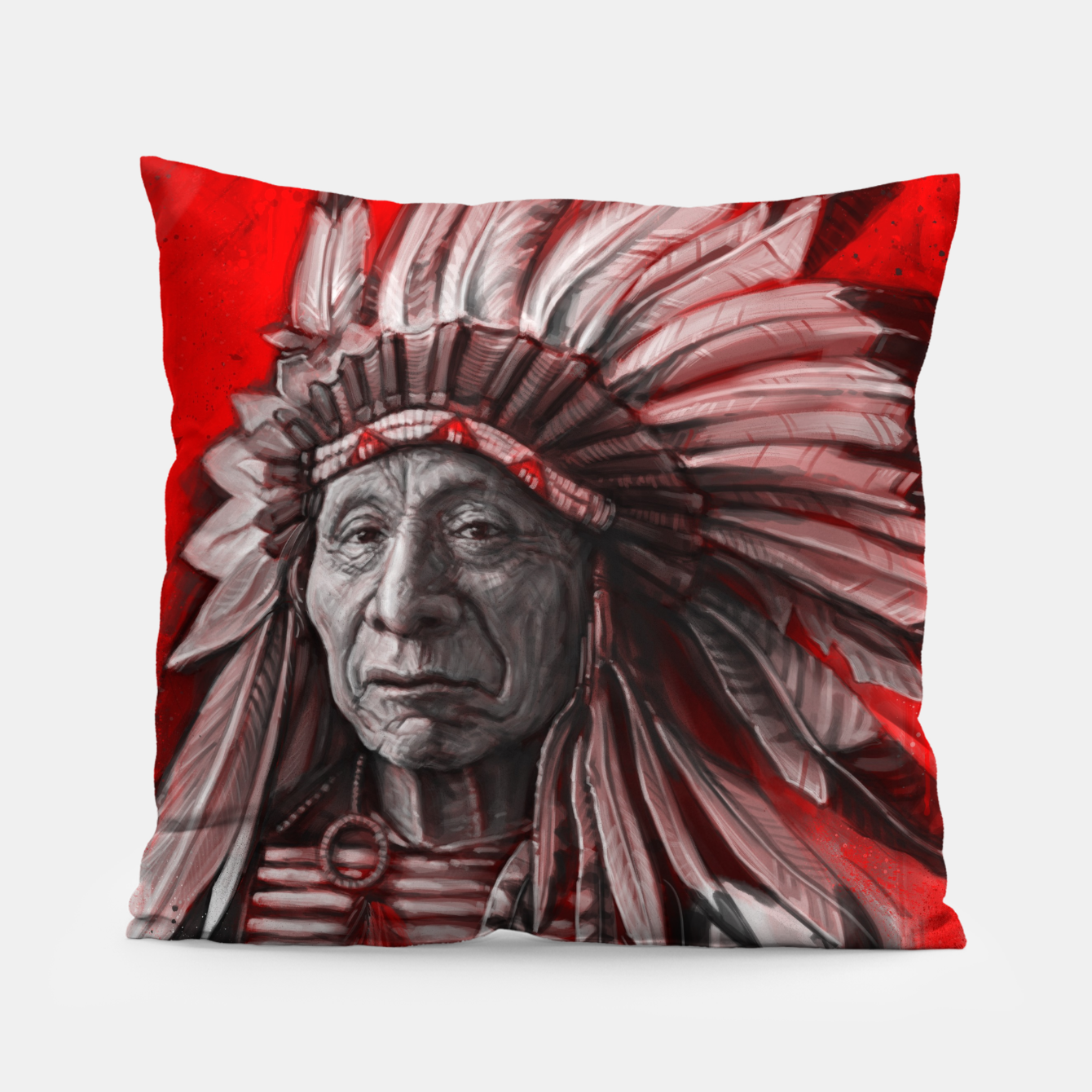 Image of Red Cloud Pillow - Live Heroes