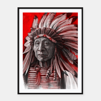 Thumbnail image of Red Cloud Framed poster, Live Heroes
