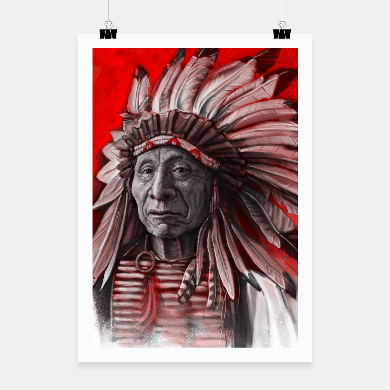 Image of Red Cloud Poster - Live Heroes