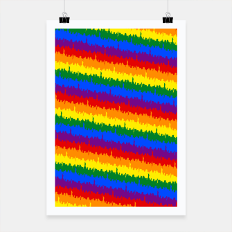Thumbnail image of Mini Manhattan Skyline Pride Candy Stripe Poster, Live Heroes
