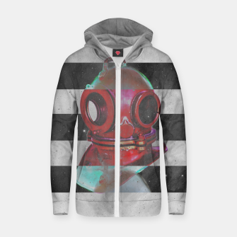 Thumbnail image of Old school helmet  Cotton zip up hoodie, Live Heroes
