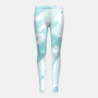 Miniatur Blue Sky Pattern Girl's leggings, Live Heroes