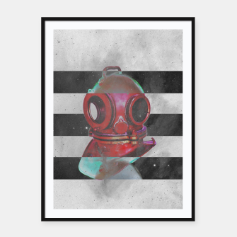 Thumbnail image of Old school helmet  Framed poster, Live Heroes