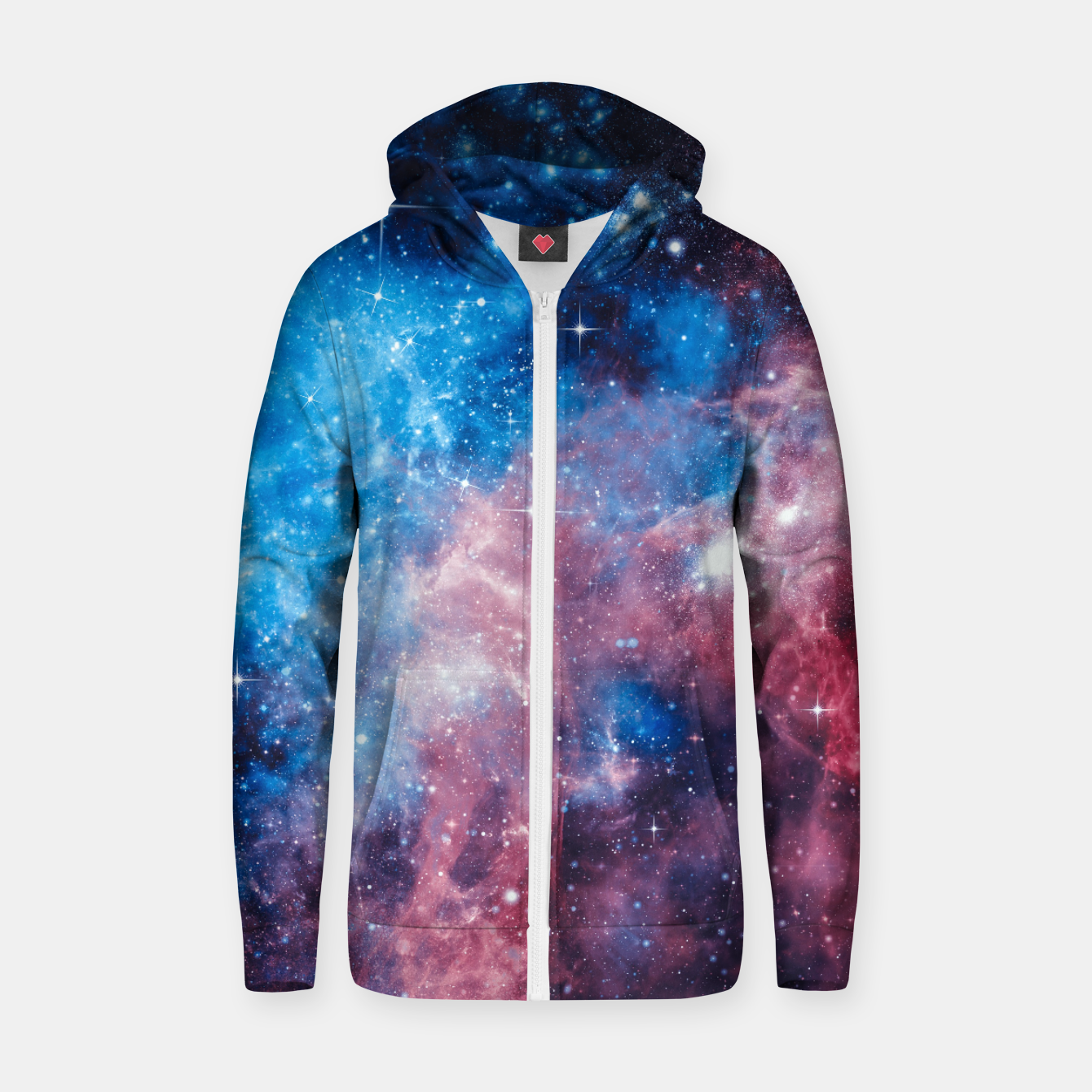 Image of All The Space I Need Cotton zip up hoodie - Live Heroes