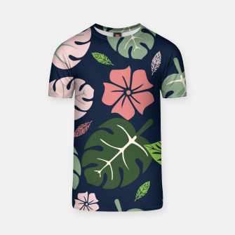 Thumbnail image of Tropical leaves Blue paradise T-shirt, Live Heroes