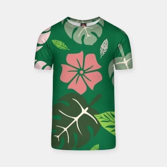 Thumbnail image of Tropical leaves green paradise T-shirt, Live Heroes