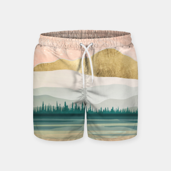 Miniatur Spring Forest Lake Swim Shorts, Live Heroes