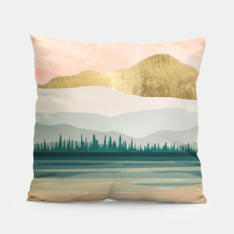 Spring Forest Lake Pillow miniature