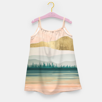 Spring Forest Lake Girl's dress miniature