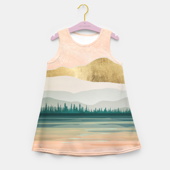 Spring Forest Lake Girl's summer dress miniature
