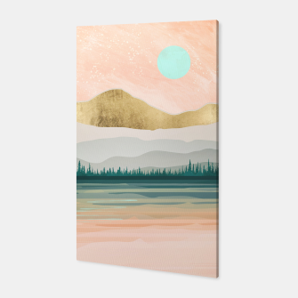 Spring Forest Lake Canvas miniature