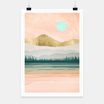 Spring Forest Lake Poster miniature