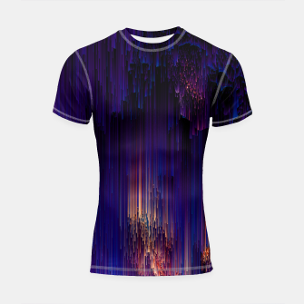 Thumbnail image of Beglitchment - Abstract Pixel Art Shortsleeve rashguard, Live Heroes