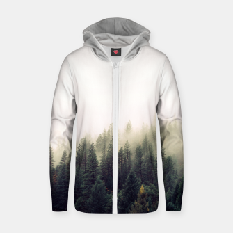 Thumbnail image of Mountain view Cotton zip up hoodie, Live Heroes