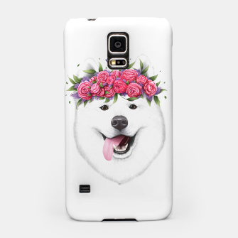 Miniaturka Samoyed with flowers Samsung Case, Live Heroes