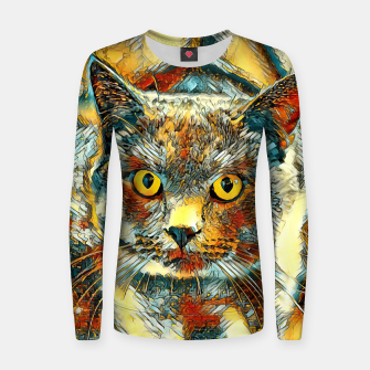 Thumbnail image of AnimalArt_Cat_20170901_by_JAMColors Woman cotton sweater, Live Heroes