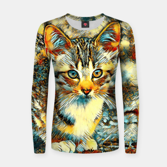 Thumbnail image of AnimalArt_Cat_20170921_by_JAMColors Woman cotton sweater, Live Heroes