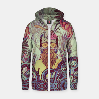 Thumbnail image of Zombie Cotton zip up hoodie, Live Heroes