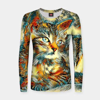 Thumbnail image of AnimalArt_Cat_20170908_by_JAMColors Woman cotton sweater, Live Heroes