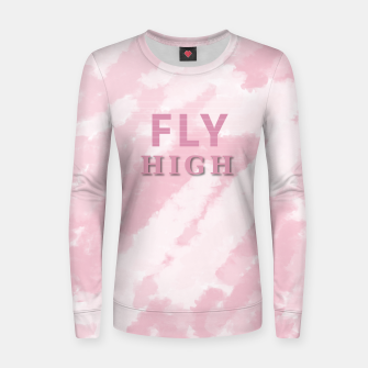 Miniaturka Coral Sky Fly High Woman cotton sweater, Live Heroes