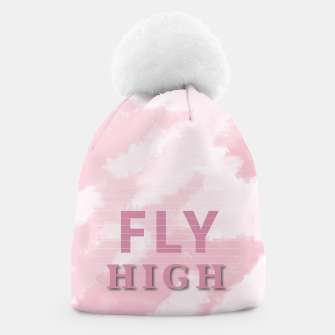 Thumbnail image of Coral Sky Fly High Beanie, Live Heroes
