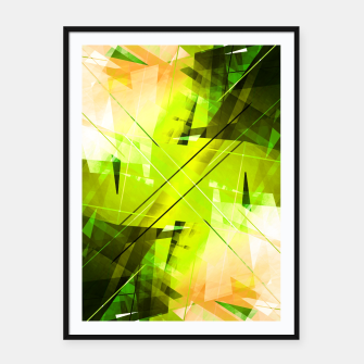 Miniatur Toxic - Geometric Abstract Art Framed poster, Live Heroes