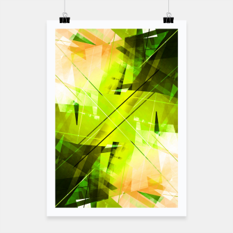 Miniatur Toxic - Geometric Abstract Art Poster, Live Heroes