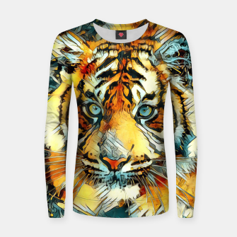 Thumbnail image of AnimalArt_Tiger_20170607_by_JAMColors Woman cotton sweater, Live Heroes