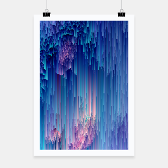 Miniatur Fairy Glitches - Abstract Pixel Art Poster, Live Heroes