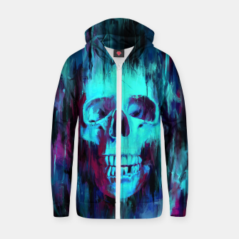 Thumbnail image of Calavera Painted Cotton zip up hoodie, Live Heroes