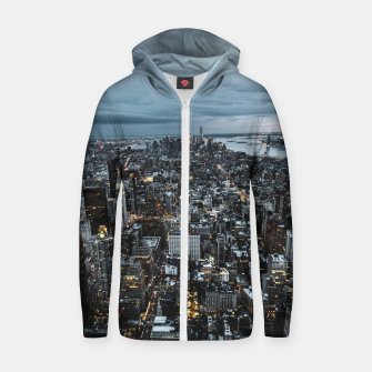 Thumbnail image of Big City Lights Cotton zip up hoodie, Live Heroes