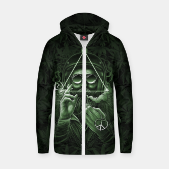 Miniature de image de Winya No. 138 Weed Cotton zip up hoodie, Live Heroes