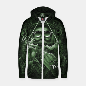 Thumbnail image of Winya No. 138 Weed Cotton zip up hoodie, Live Heroes