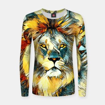 Thumbnail image of AnimalArt_Lion_20170603_by_JAMColors Woman cotton sweater, Live Heroes