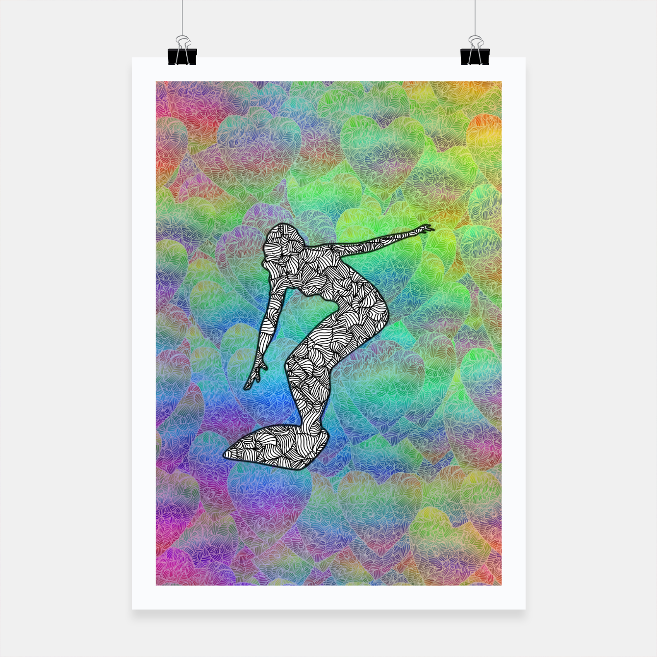Image of Surf Poster - Live Heroes