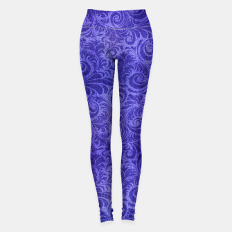 Miniaturka Vibrant Blue - Purple Floral Pattern Leggings, Live Heroes