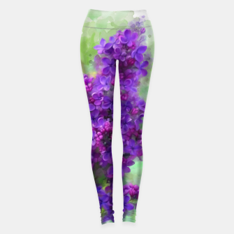 Miniaturka Watercolor Lilac Leggings, Live Heroes