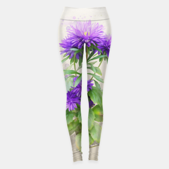 Miniaturka Purple Flowers. watercolors Leggings, Live Heroes