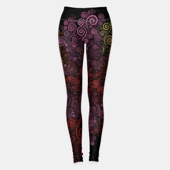 Miniaturka 3D ornamental Rose Leggings, Live Heroes
