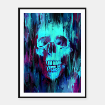 Thumbnail image of Calavera Painted Framed poster, Live Heroes
