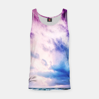 Thumbnail image of Cloudy shores Tank Top, Live Heroes