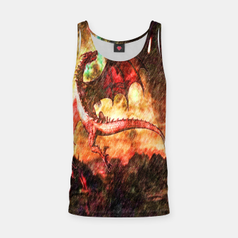 Thumbnail image of Dragon's fire Tank Top, Live Heroes