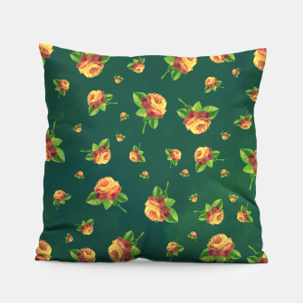 Thumbnail image of Roses & Greens Pillow, Live Heroes