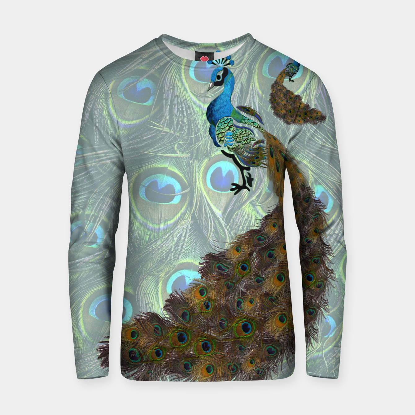 Image of Peacock feathers Cotton sweater - Live Heroes