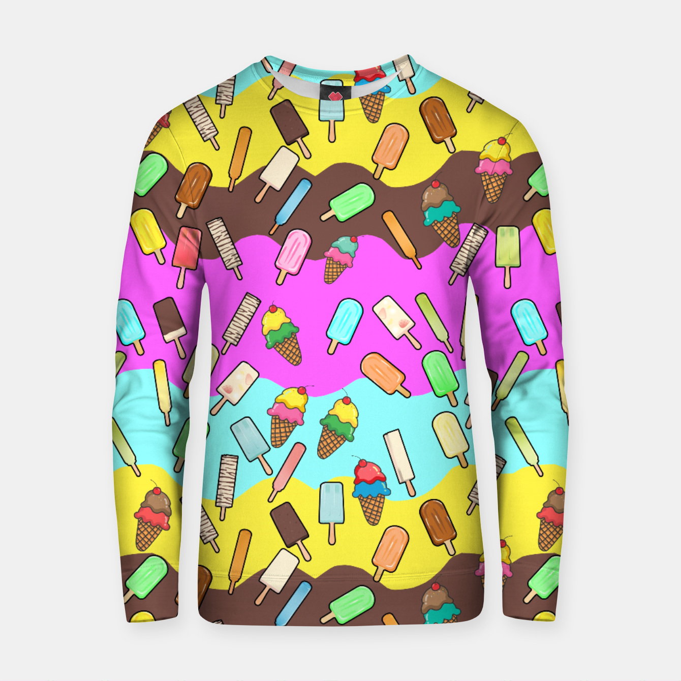 Image of Ice Cream Treats Cotton sweater - Live Heroes