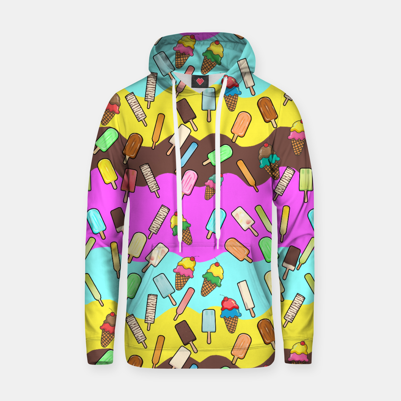 Image of Ice Cream Treats Cotton hoodie - Live Heroes