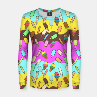 Thumbnail image of Ice Cream Treats Woman cotton sweater, Live Heroes