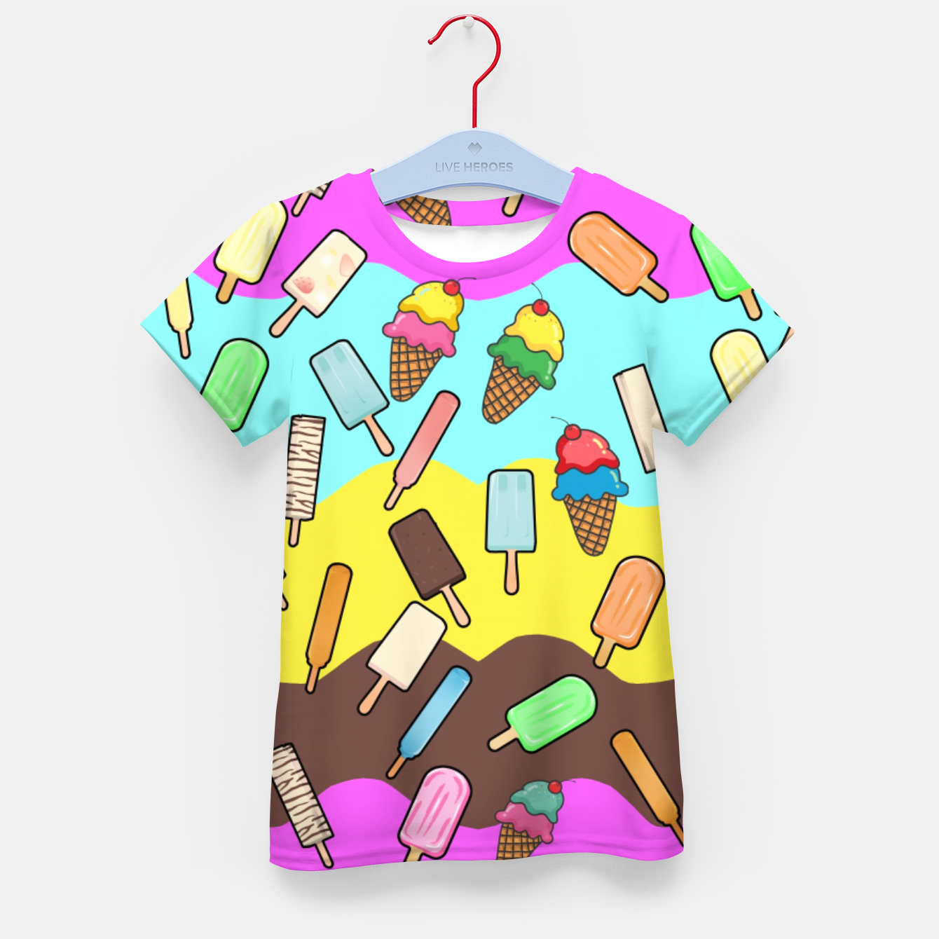 Image of Ice Cream Treats Kid's t-shirt - Live Heroes