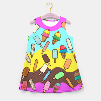 Ice Cream Treats Girl's summer dress obraz miniatury